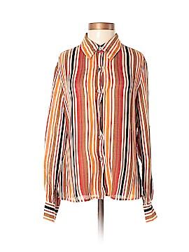 Alfani Long Sleeve Silk Top Size 8 (Petite)