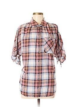 William Rast 3/4 Sleeve Button-Down Shirt Size M
