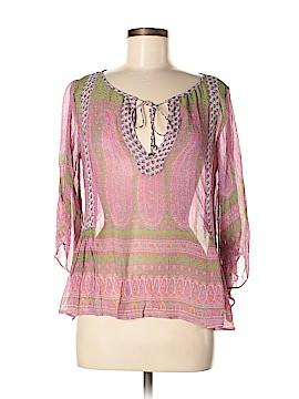 Calypso St. Barth Long Sleeve Silk Top Size XS