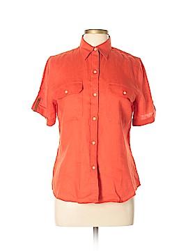 Lauren Jeans Co. Short Sleeve Button-Down Shirt Size M