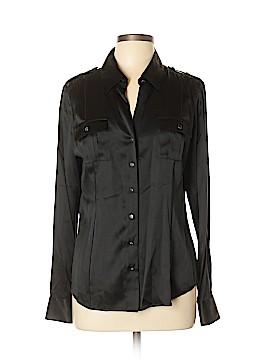 White House Black Market Long Sleeve Silk Top Size 12