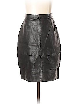 Vera Pelle Leather Skirt Size 44 (IT)