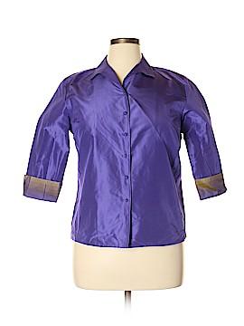 Ann Taylor LOFT 3/4 Sleeve Silk Top Size 14