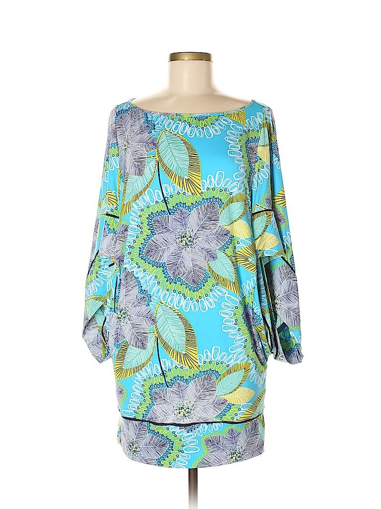 b9ca6702347 Trina Turk Print Blue Casual Dress Size M - 81% off