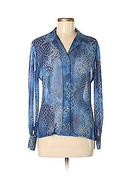 Dana Buchman Long Sleeve Silk Top Size 8 (Petite)
