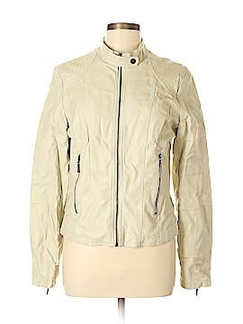 Max Jeans Faux Leather Jacket Size L