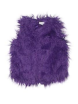 The Children's Place Faux Fur Vest Size 14