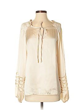 Mingle Long Sleeve Silk Top Size M