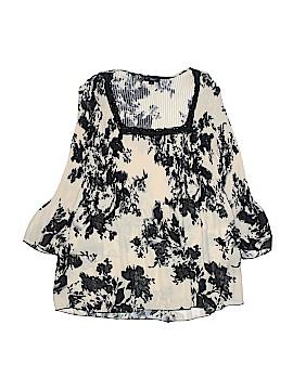 Plisse 3/4 Sleeve Blouse Size M