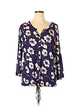 Daisy Fuentes 3/4 Sleeve T-Shirt Size XL