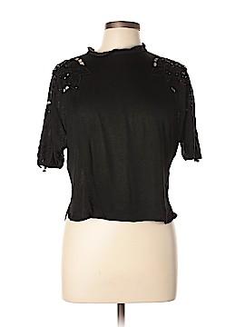 Les Copains Short Sleeve Silk Top Size M