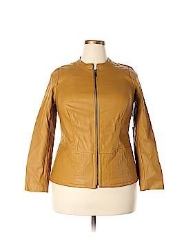 Alfani Faux Leather Jacket Size 0X (Plus)