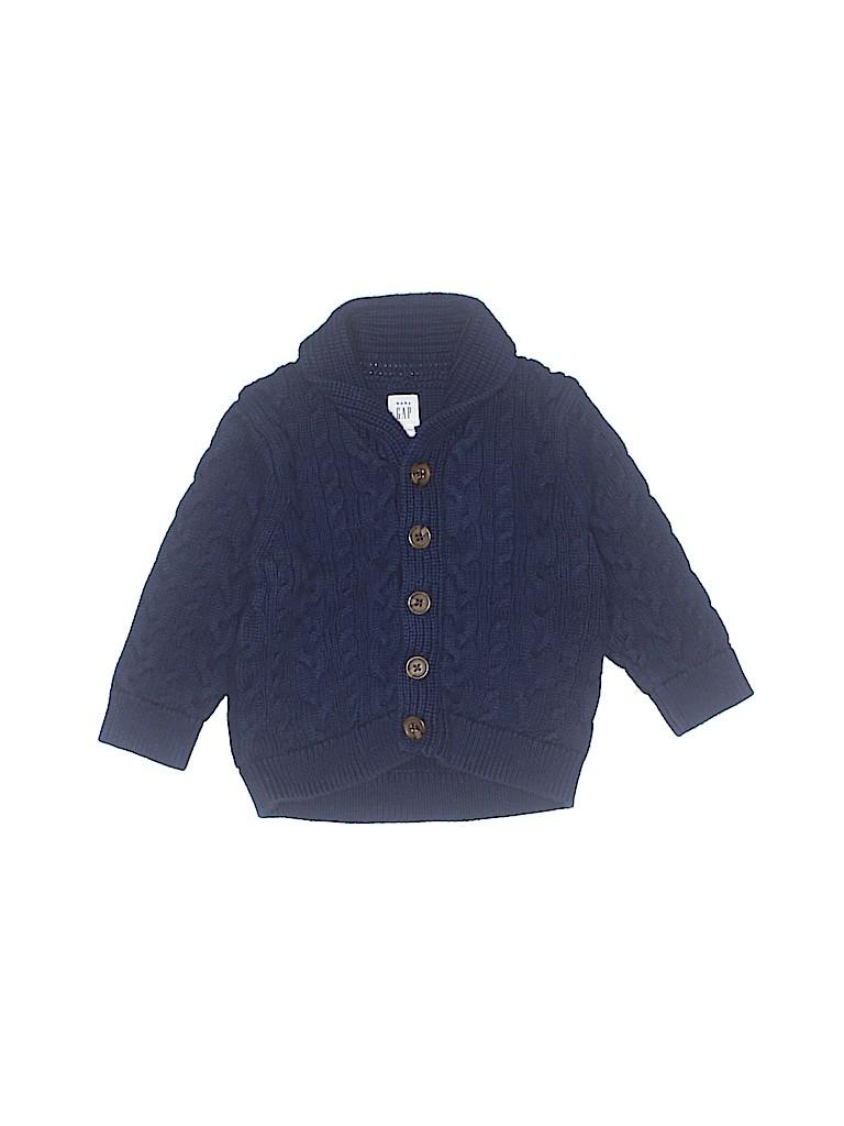 baf354524 Baby Gap 100% Cotton Solid Dark Blue Cardigan Size 18-24 mo - 63 ...
