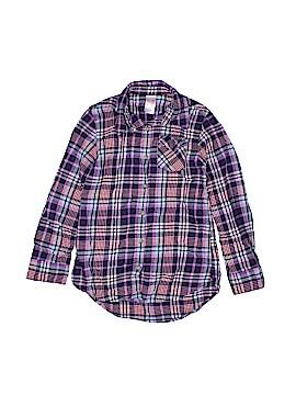 Cat & Jack Long Sleeve Button-Down Shirt Size 7 - 8