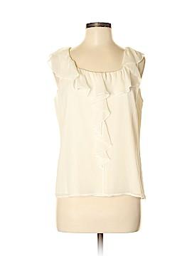 St. John Short Sleeve Silk Top Size M