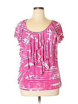 AB Studio Short Sleeve Blouse Size XL