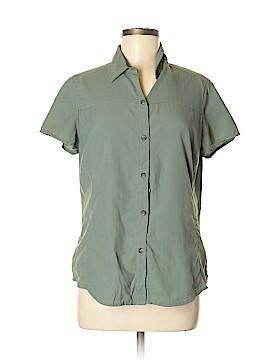 REI Short Sleeve Button-Down Shirt Size M