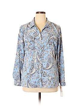 Rebecca Malone Long Sleeve Button-Down Shirt Size XL