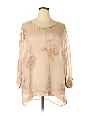 Soft Surroundings Women 3/4 Sleeve Silk Top Size 2X (Plus)