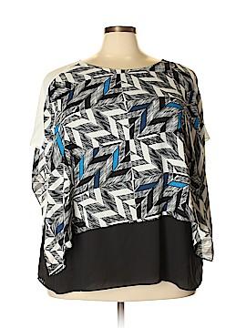 Alfani Short Sleeve Blouse Size 22 (Plus)