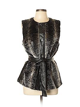 Ellen Tracy Faux Fur Vest Size L