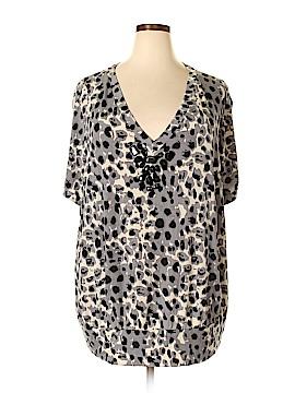 Fashion Bug Short Sleeve Top Size 4X (Plus)