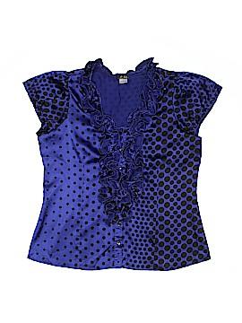 Dots Short Sleeve Blouse Size 1X (Plus)