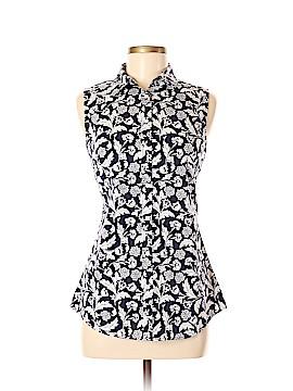 Banana Republic Factory Store Sleeveless Button-Down Shirt Size 8
