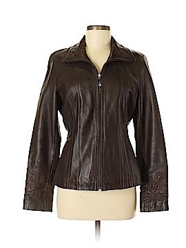 Jones New York Leather Jacket Size 6