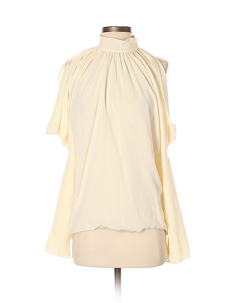 7bbfb73a0d95f Derek Lam 100% Silk Solid Ivory 3 4 Sleeve Silk Top Size 6 - 81% off ...