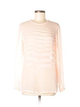 Etcetera Long Sleeve Silk Top Size 2