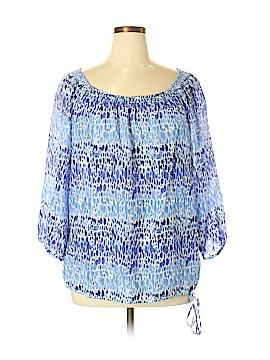 Ann Taylor LOFT Outlet 3/4 Sleeve Blouse Size XL