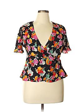Trafaluc by Zara Short Sleeve Blouse Size XL