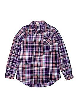Cat & Jack Long Sleeve Button-Down Shirt Size 14-16
