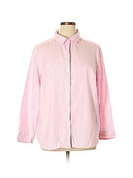 Croft & Barrow Long Sleeve Button-Down Shirt Size 1X (Plus)