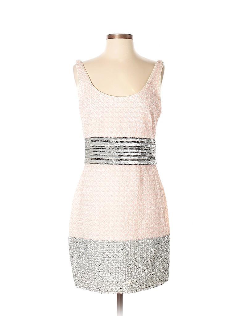 a207e94c489 Belle Badgley Mischka 100% Polyester Tweed Light Pink Cocktail Dress ...