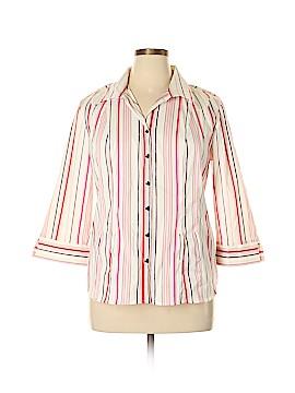 CSI Industries 3/4 Sleeve Button-Down Shirt Size XL