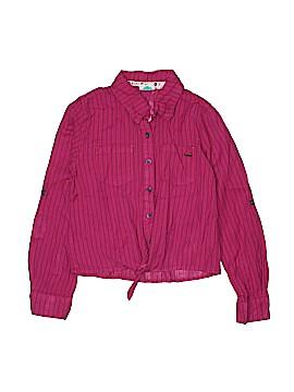 Roxy Hunter Long Sleeve Button-Down Shirt Size 8