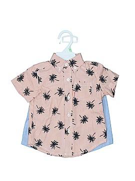 Little Me Short Sleeve Button-Down Shirt Size 18 mo