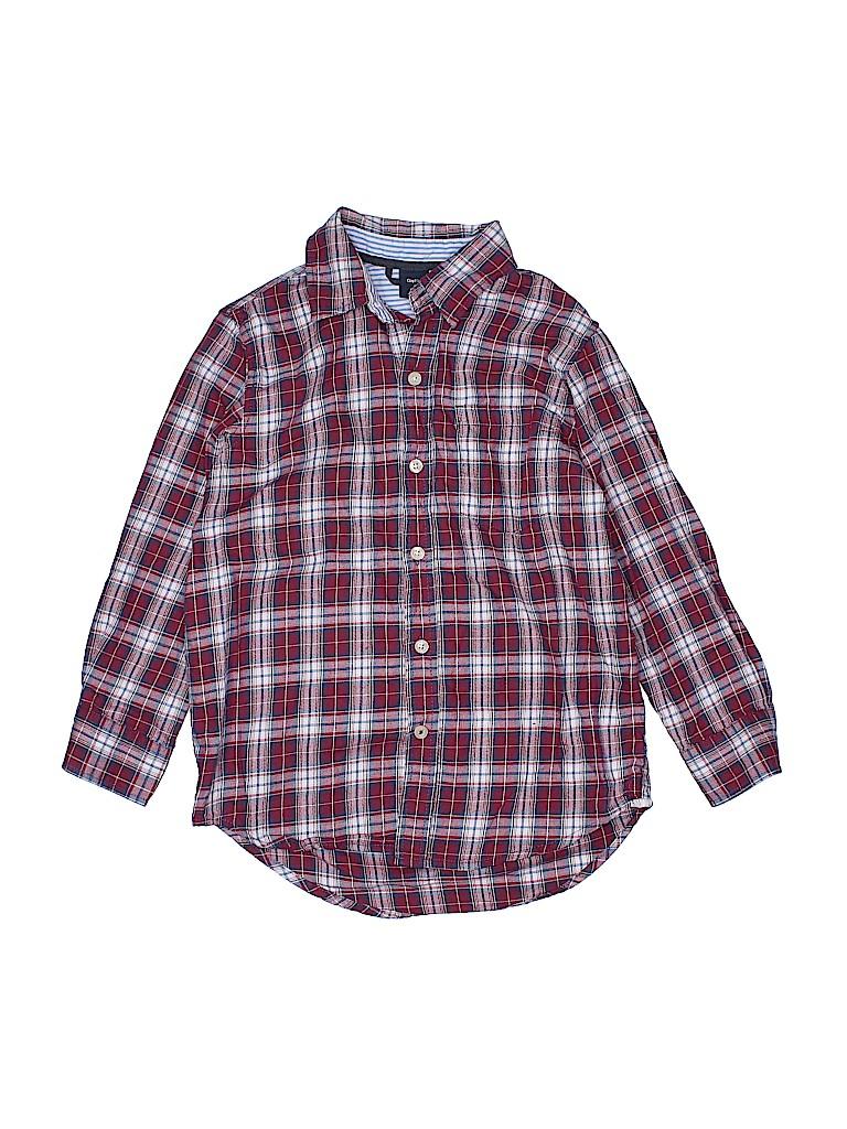 Gap Kids Girls 3/4 Sleeve Button-Down Shirt Size 6 - 7