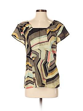 Thakoon Addition Short Sleeve Silk Top Size 4