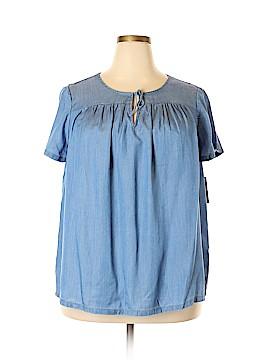 Crown & Ivy Short Sleeve Blouse Size 2X (Plus)