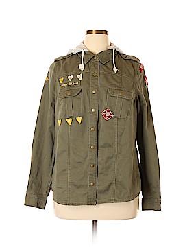 Love Crazy Denim Jacket Size 1X (Plus)