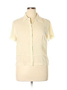 Liz Claiborne Short Sleeve Silk Top Size 14