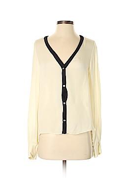 Chelsea Flower Long Sleeve Silk Top Size XS
