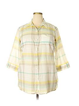 Liz Claiborne 3/4 Sleeve Button-Down Shirt Size 1X (Plus)
