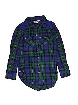 Derek Heart Long Sleeve Button-Down Shirt Size 7