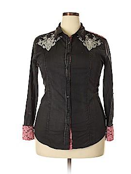 Roar Long Sleeve Button-Down Shirt Size XL