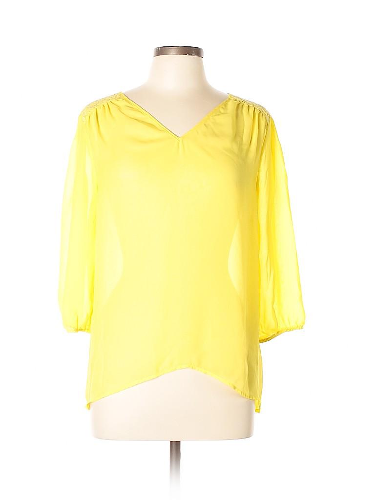 Tacera Women 3/4 Sleeve Blouse Size L