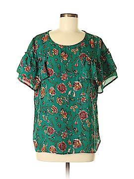 Xhilaration Short Sleeve Blouse Size L